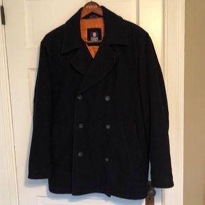 Chaps navy pea coat
